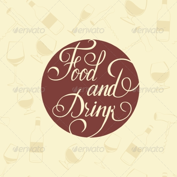 Word Food and Drink Background - Concepts Business