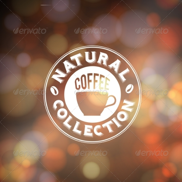 Background with Coffee Lettering - Decorative Symbols Decorative