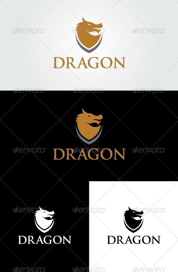Dragon Logo Template - Crests Logo Templates