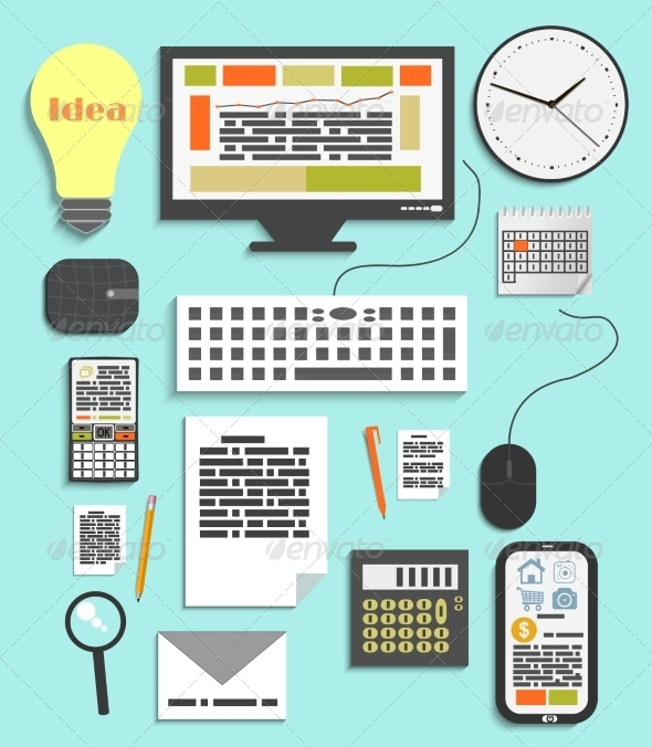 Office and Business Work Elements - Concepts Business