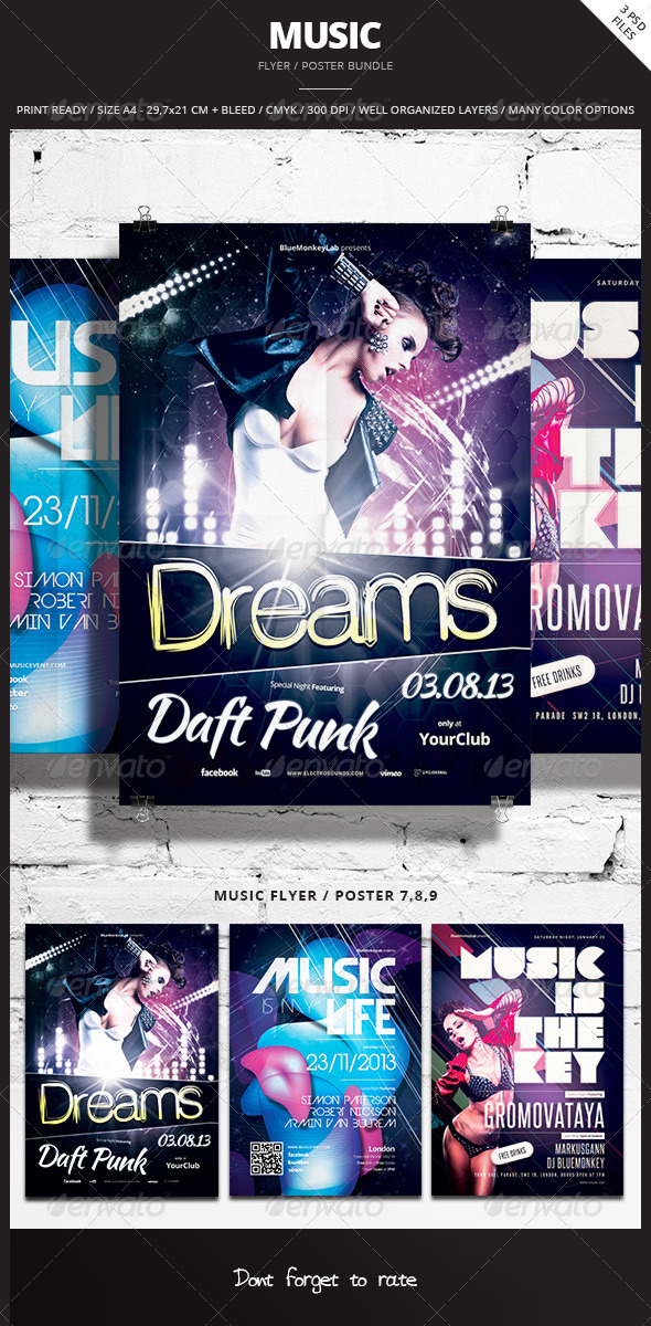 Music Flyer / Poster Bundle 3 - Events Flyers