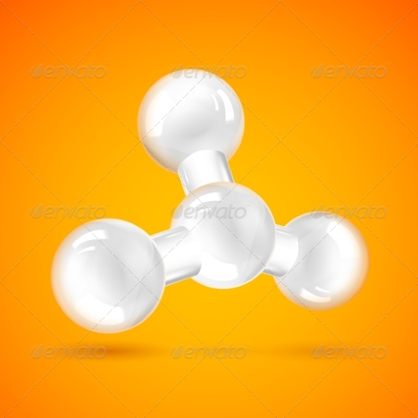 White Molecule Icon - Miscellaneous Conceptual