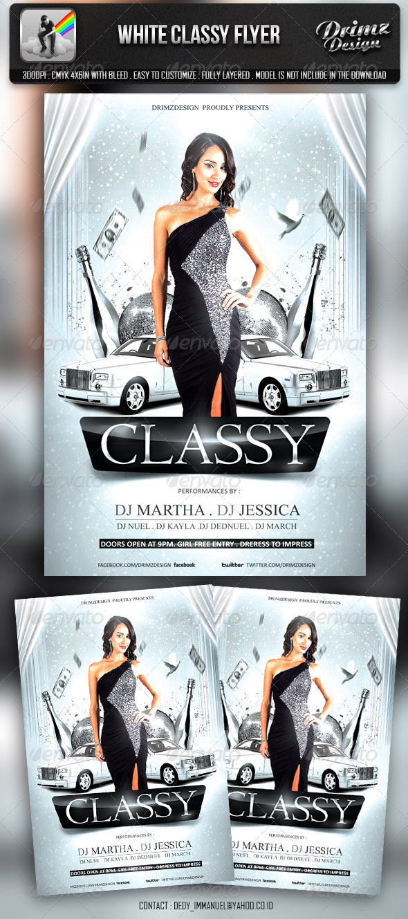 White Classy Flyer - Events Flyers