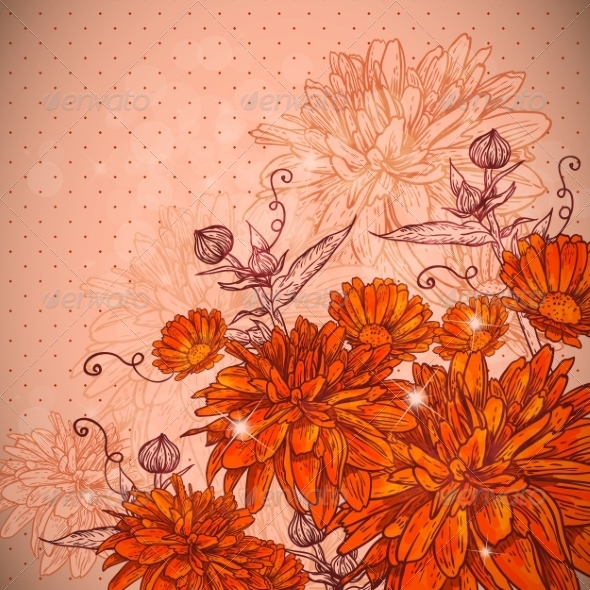 Beautiful Floral Background - Backgrounds Decorative