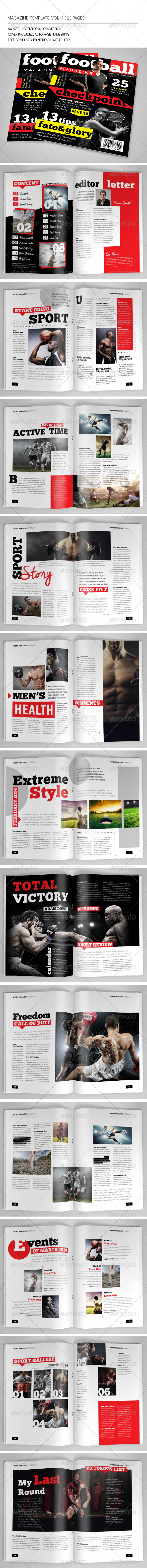 25 Pages Sport Magazine Vol7 - Magazines Print Templates