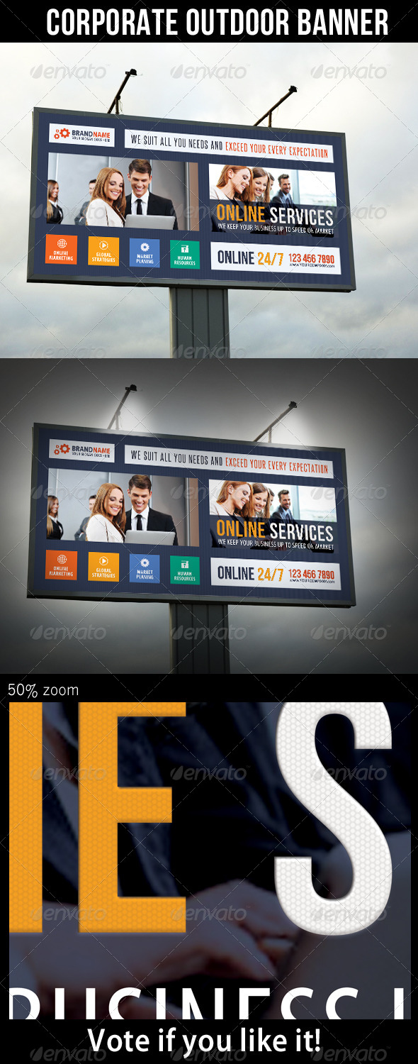 Corporate Outdoor Banner 25 - Signage Print Templates
