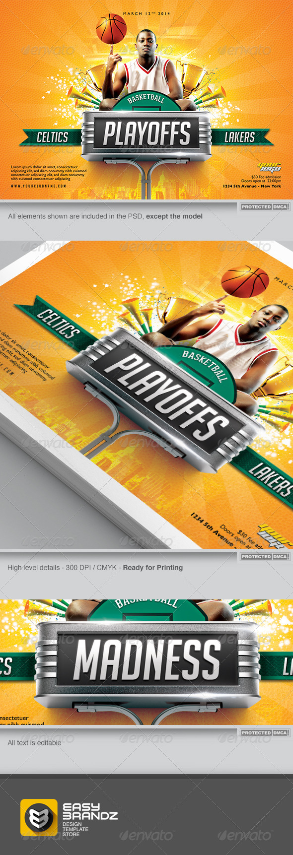 BasketBall Flyer Template - Sports Events