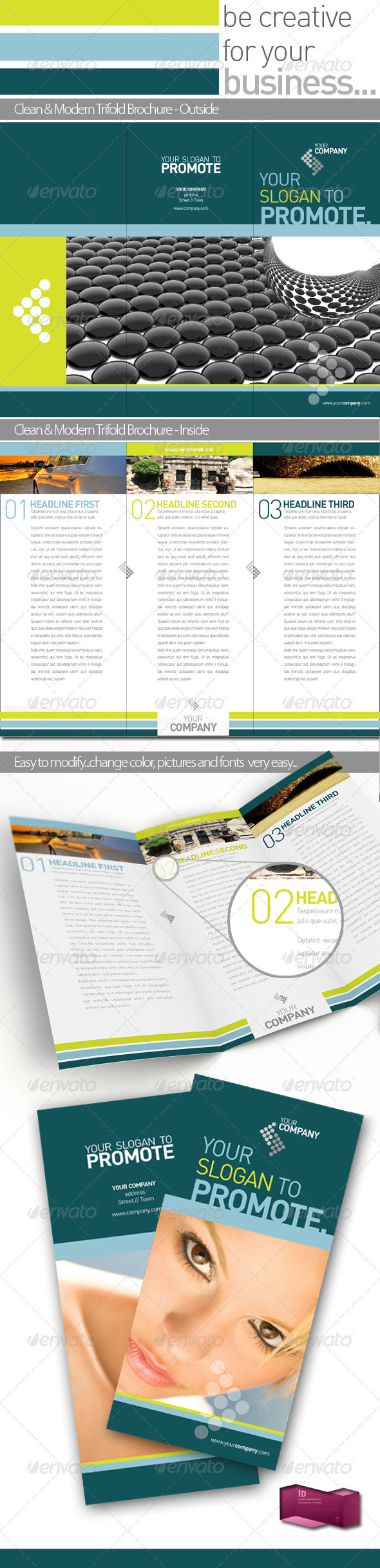 Company Folder Professional Brochure Template   - Corporate Brochures