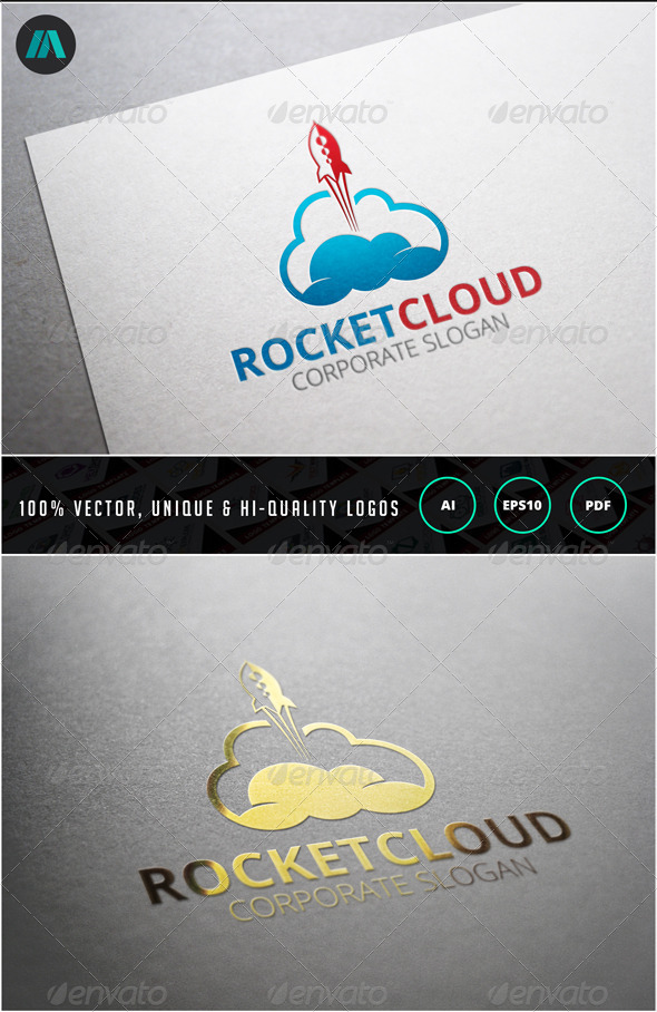 Rocket Cloud Logo Template - Objects Logo Templates