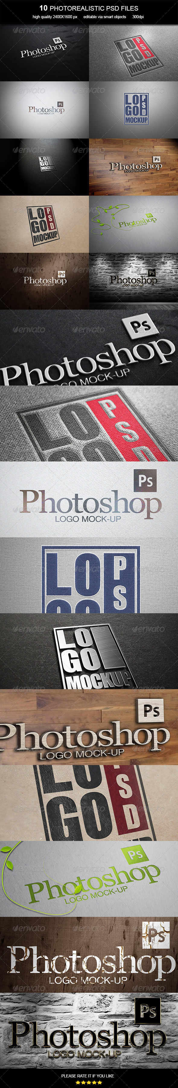 Logo Mock-Up Vol. 6 - Logo Product Mock-Ups