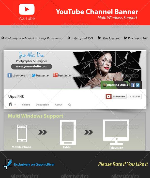 Youtube Channel Banner V1 - YouTube Social Media