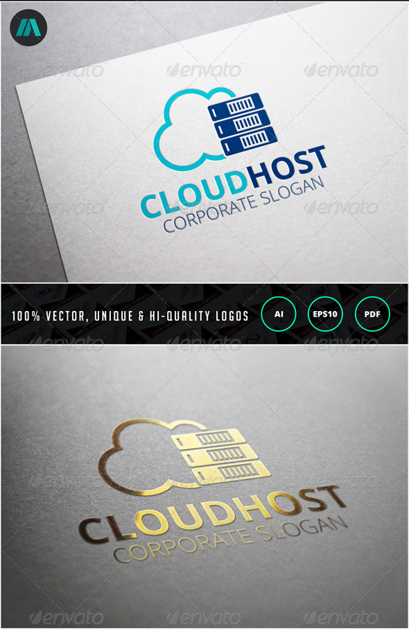Cloud Host Logo Template - Nature Logo Templates