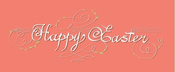 Happy Easter Lettering - Miscellaneous Seasons/Holidays