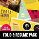 Portfolio & Resume Creative Pack - GraphicRiver Item for Sale