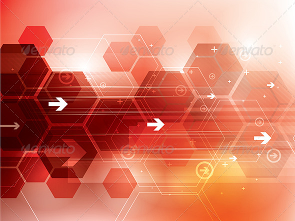 Abstract Red Technology Background by cifotart | GraphicRiver