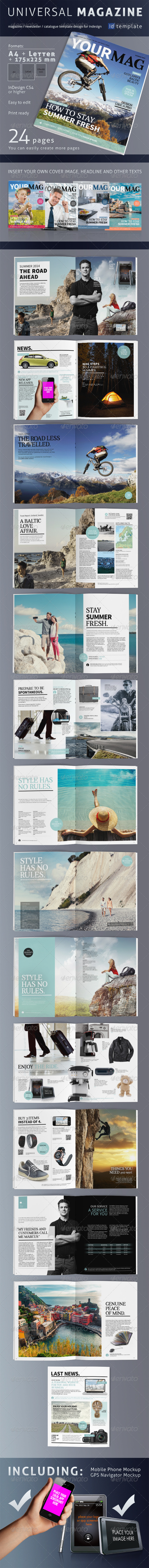 24 Page Universal Magazine A4+Letter - Magazines Print Templates