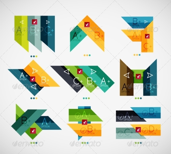 Set of Modern Business Infographic Templates - Miscellaneous Vectors