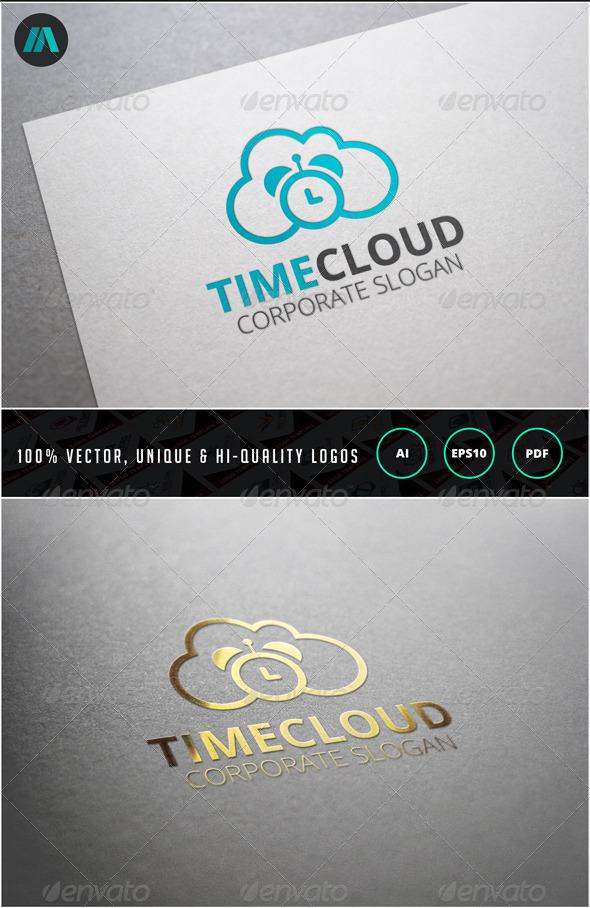 Time Cloud Logo Template - Nature Logo Templates