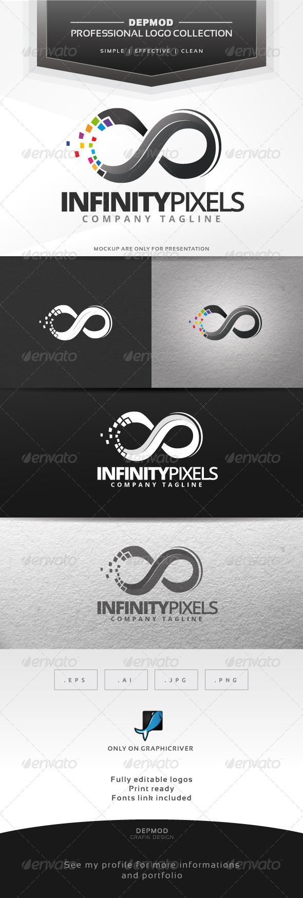 Infinity Pixels Logo - Symbols Logo Templates