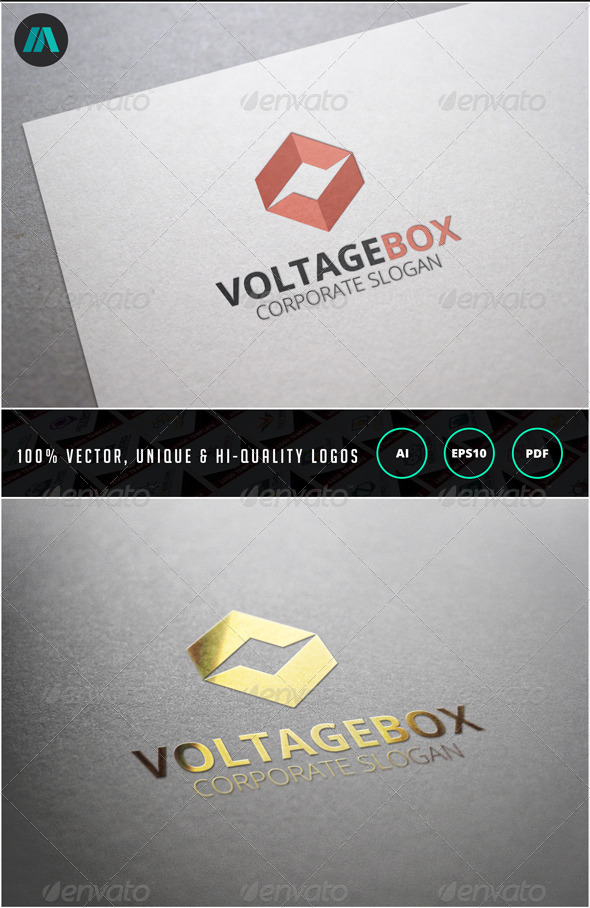 Voltage Box Logo Template - Objects Logo Templates