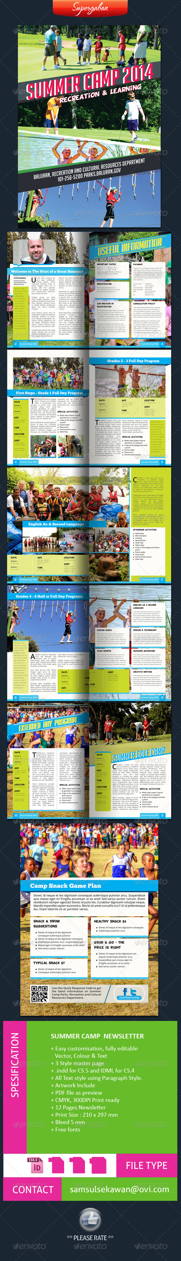 Summer Camps Newsletter - Newsletters Print Templates