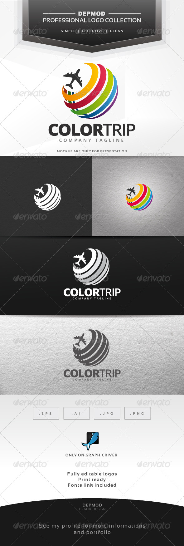Color Trip Logo - Symbols Logo Templates
