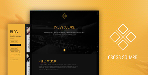 CrossSquare – One Page Bootstrap PSD Template
