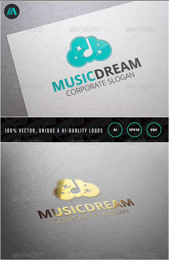 Music Dream Logo Template - Nature Logo Templates