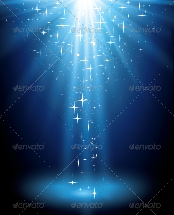 Abstract Magic Blue Light Background - Miscellaneous Vectors