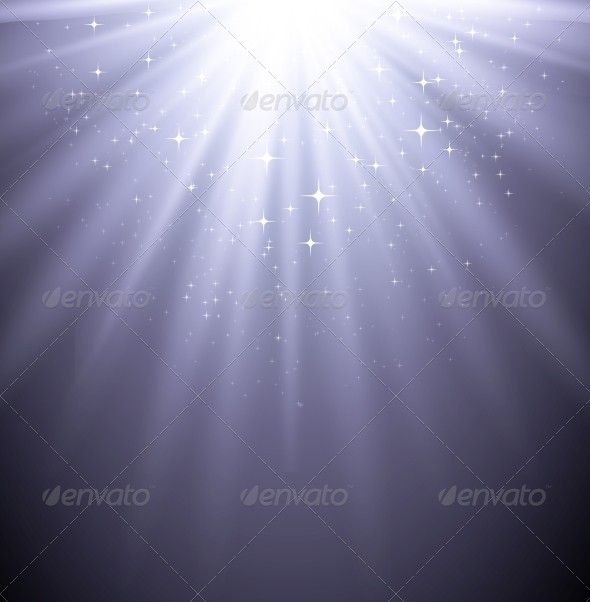 Abstract  Magic Light Backgroud with Star - Miscellaneous Vectors