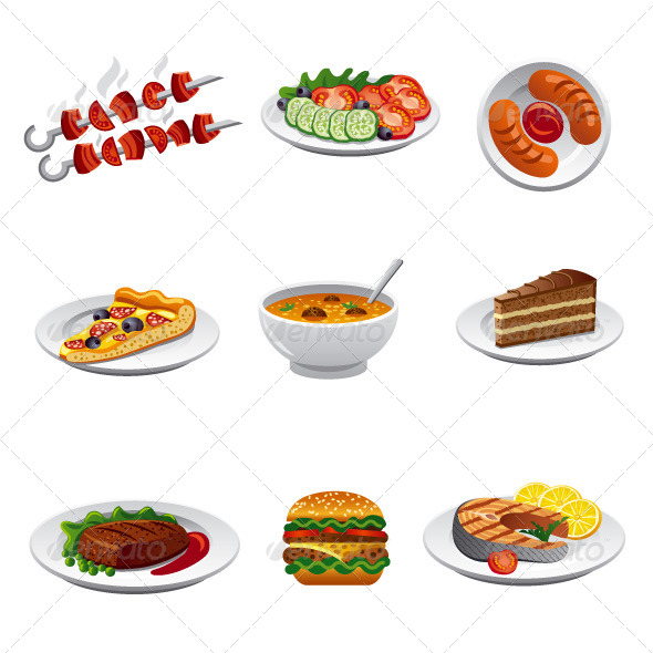 Food Icon Set - Food Objects