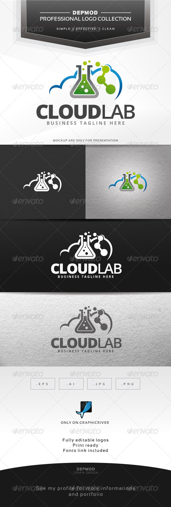 Cloud Lab Logo - Symbols Logo Templates