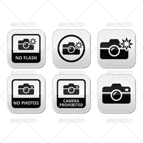 No Photos, Cameras or Flash Buttons - Miscellaneous Vectors