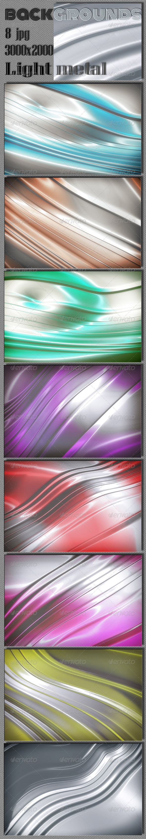 Light Metal Multi-Colour Backgrounds. - Abstract Backgrounds