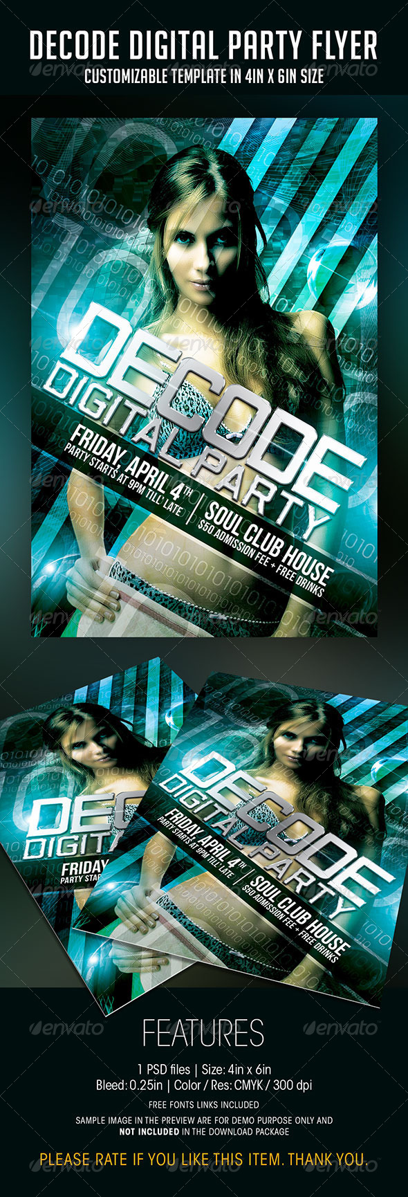 Decode Digital Party Flyer - Clubs & Parties Events