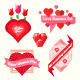 Set of Love Banners - GraphicRiver Item for Sale