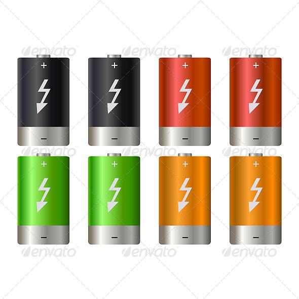 Battery Illustration - Computers Technology