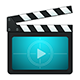 Vector Movie Production Clapboard Icons - GraphicRiver Item for Sale