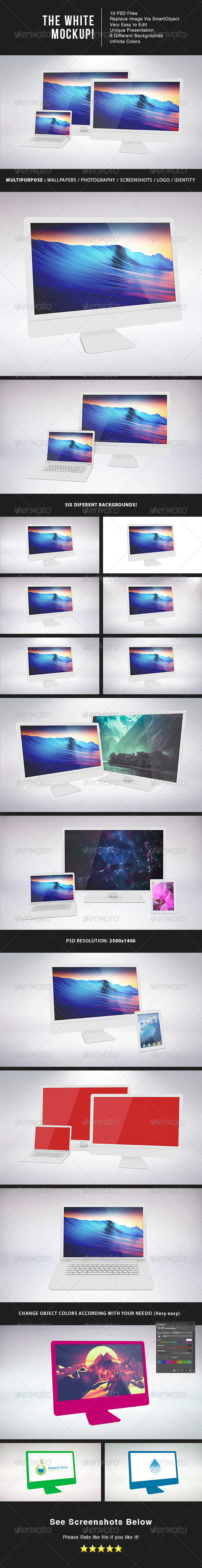 The White MockUp - Displays Product Mock-Ups