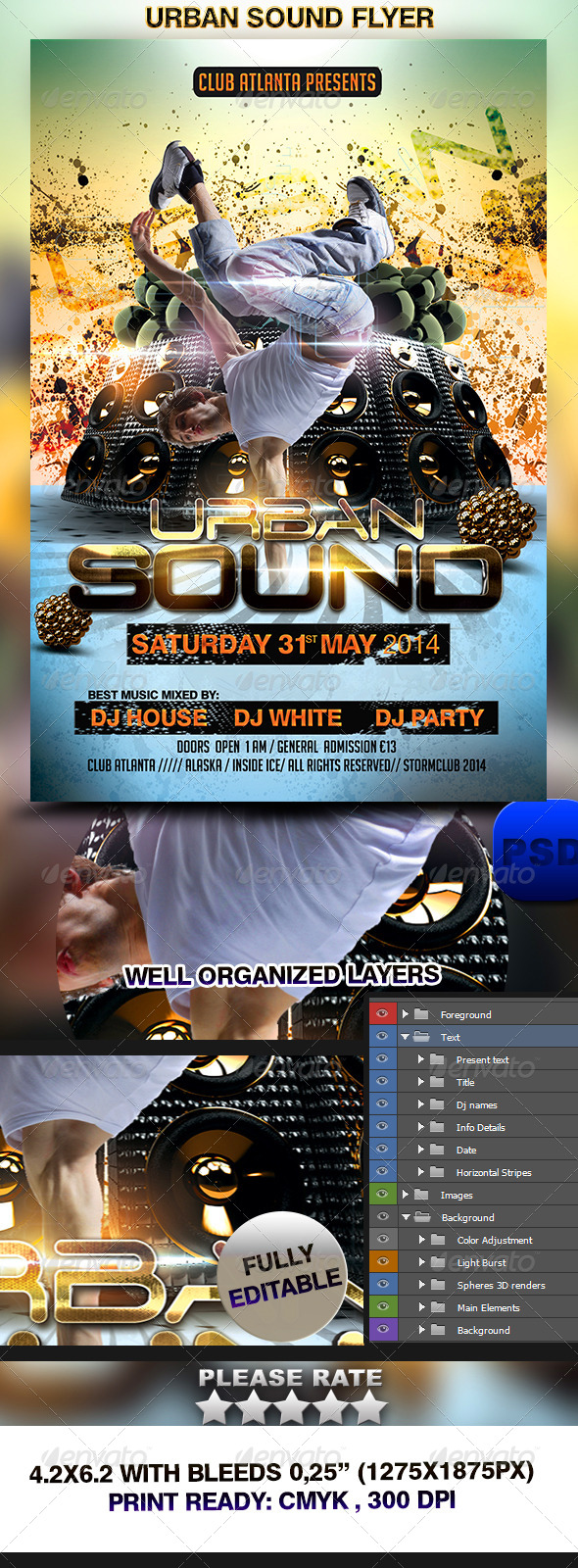 Urban Sound Flyer Template - Events Flyers