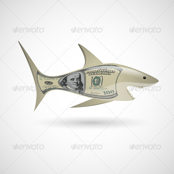 Dollar Shark - Miscellaneous Vectors