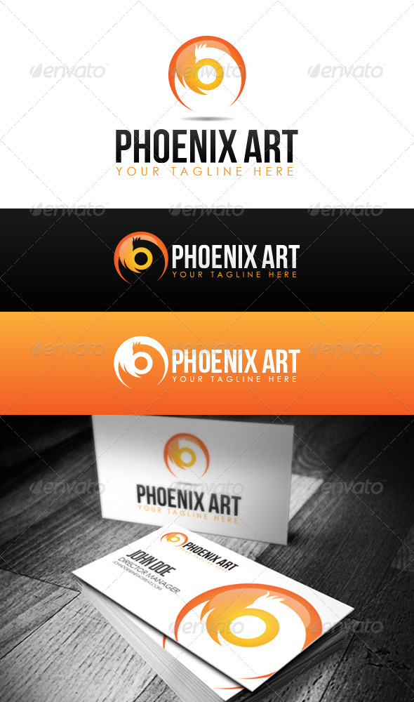 Phoenix Art Logo - Abstract Logo Templates