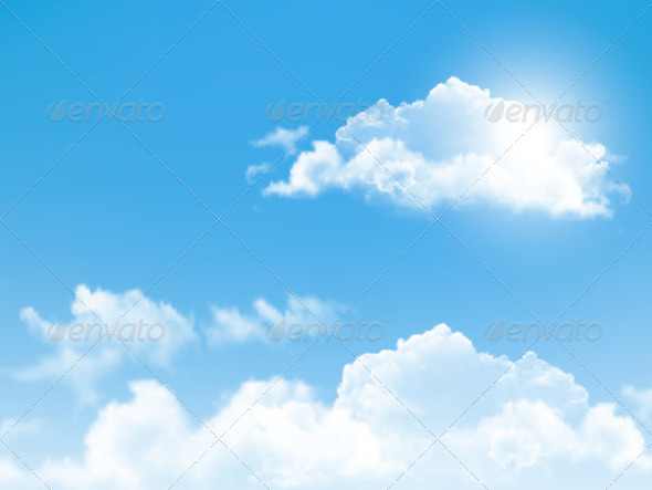 blue sky with clouds background by almoond graphicriver