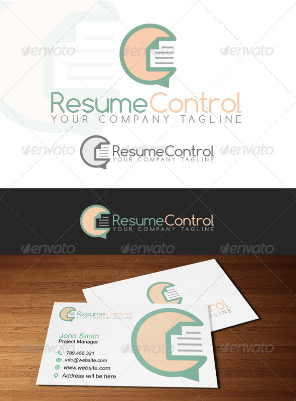 Resume Control Logo - Abstract Logo Templates