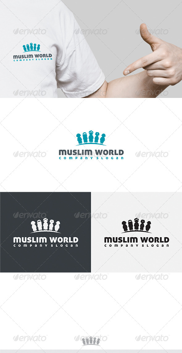 Muslim World Logo - Humans Logo Templates