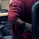 Women Sit Working At The Wrong Position - VideoHive Item for Sale