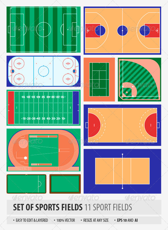 Sport Fields - Sports/Activity Conceptual