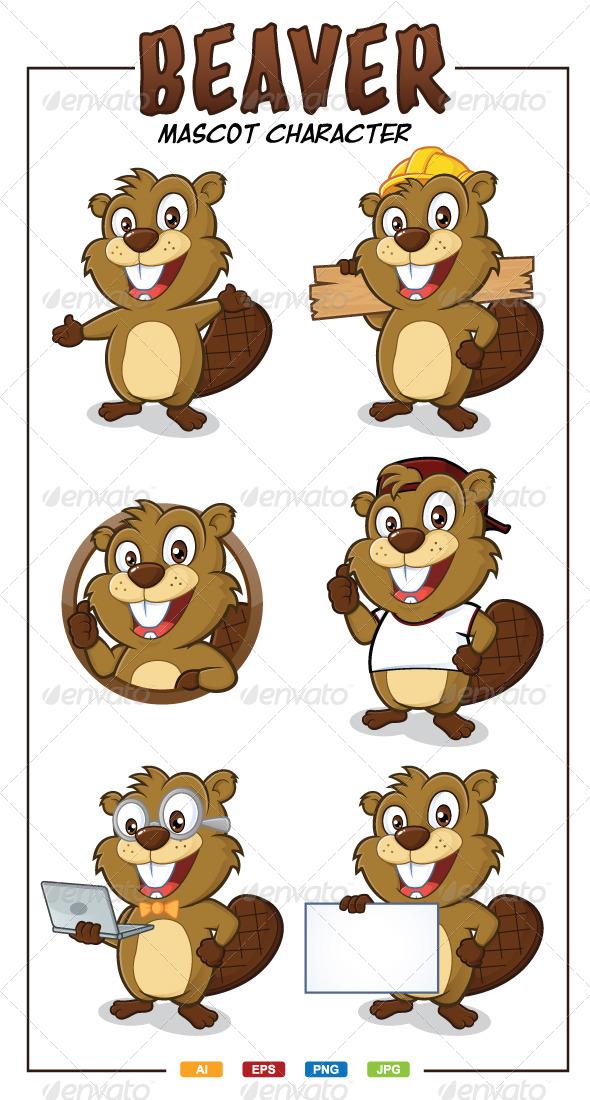 Beaver Mascot Character - Animals Characters