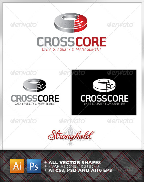 Cross Core Data Technology Logo Template  - Logo Templates