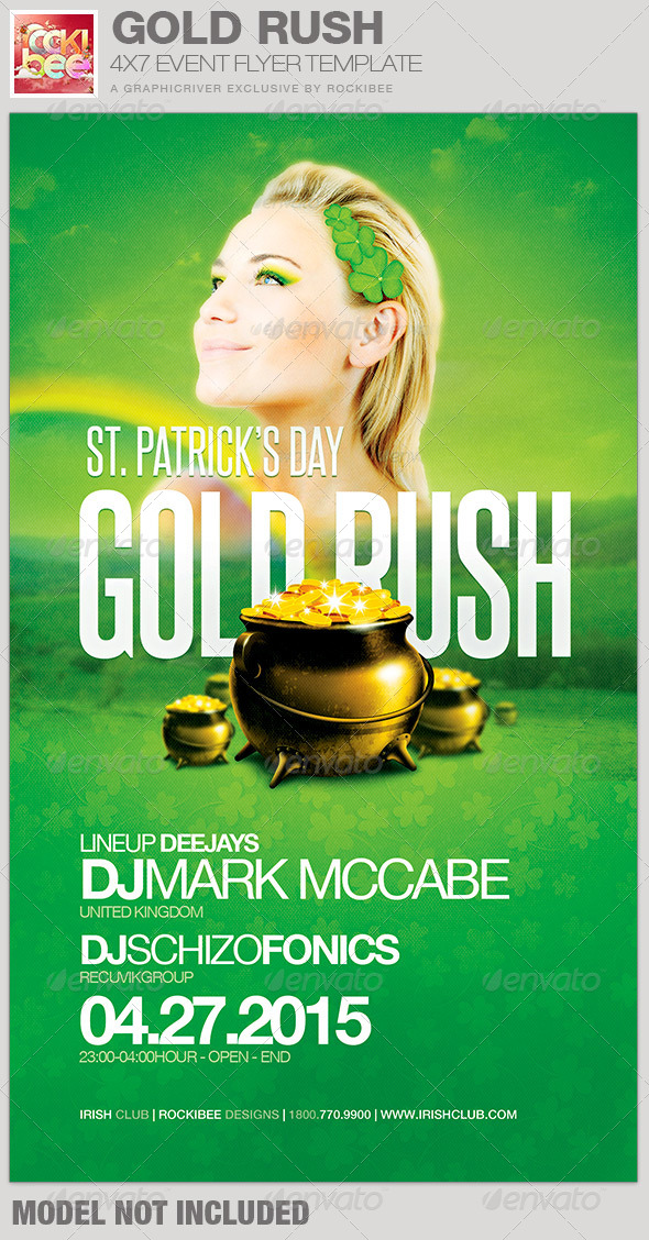 Saint Patrick's Day Gold Rush Event Flyer Template - Events Flyers